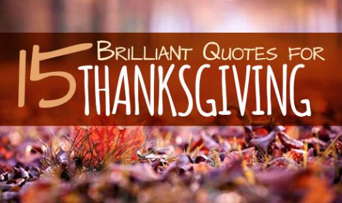 foto de 15 Brilliant Quotes for Thanksgiving by SermonCentral ...