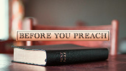 View article 5 Questions Before You Preach