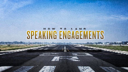 View article How To Land Speaking Engagements