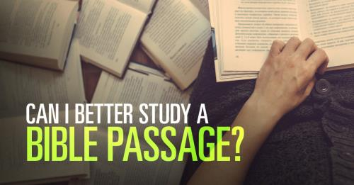 View article How Can I Better Study A Bible Passage?