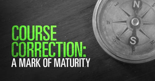 View article Absorbing Correction: A Mark Of A Mature Man