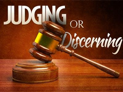 PowerPoint Template on Judging Or  Discerning