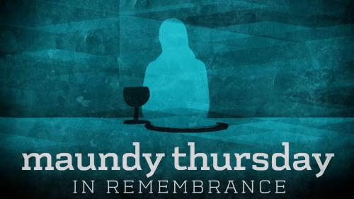 Motion Background on Subtle Maundy Thursday Title