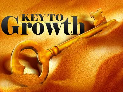 PowerPoint Template on Key To  Growth