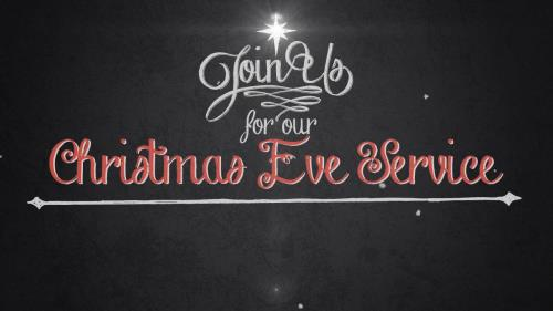 view the Motion Background Vintage Christmas Eve Invite Title