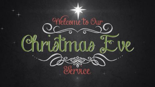 view the Motion Background Vintage Christmas Eve Service Welcome