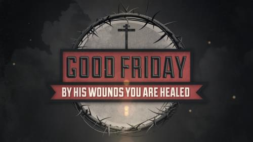 Motion Background on Vintage Good Friday Title