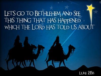 PowerPoint Template on Lets Go To Bethlehem