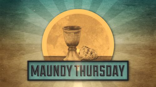 Motion Background on Vintage Maundy Thursday Title