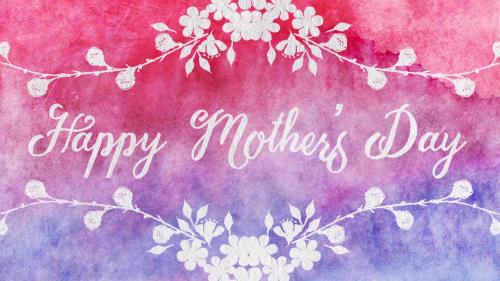 view the Motion Background Watercolor Card Happy Mother's Day