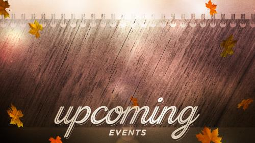 view the Motion Background Woodgrain Upcoming Events