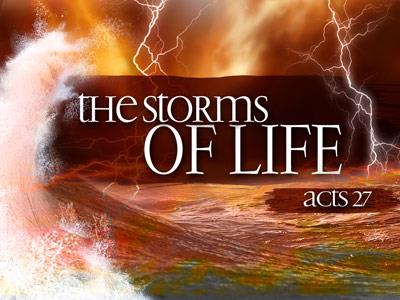 PowerPoint Template on Life  Storms