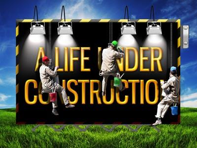 PowerPoint Template on Life  Under  Construction
