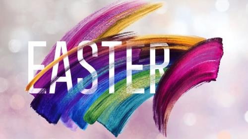 view the PowerPoint Template Shimmer Stroke Easter