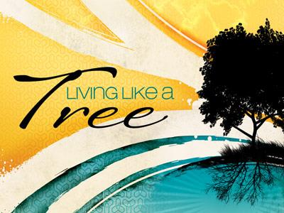 PowerPoint Template on Living  Like A  Tree