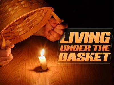 PowerPoint Template on Living  Under The  Basket