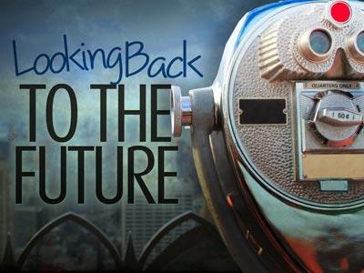 PowerPoint Template on Looking Back To The Future