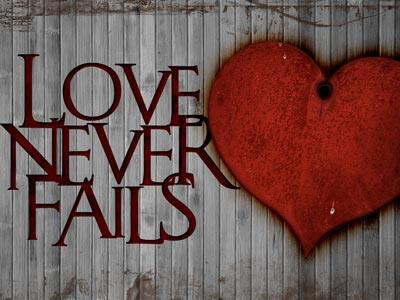 PowerPoint Template on Love  Never  Fails