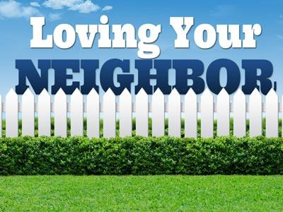 PowerPoint Template on Loving Your Neighbor Fence