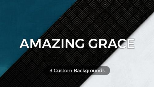 Amazing Grace (Worship Lyric Slides) PowerPoint Template
