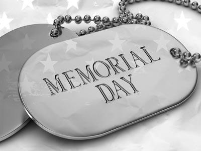 PowerPoint Template on Memorial  Day Tags 2