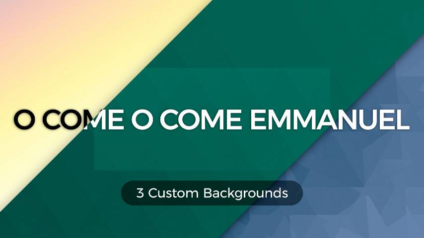 O Come O Come Emmanuel (Worship Lyric Slides) PowerPoint Template