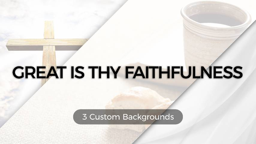 Great Is Thy Faithfulness (Worship Lyric Slides) PowerPoint Template