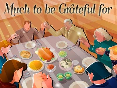 PowerPoint Template on Much To  Be  Grateful  For