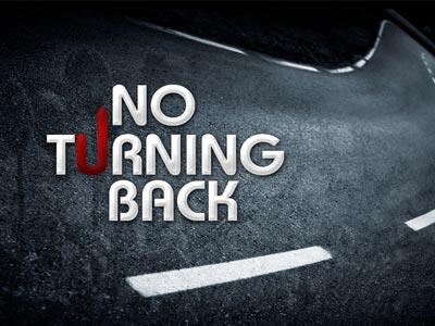 PowerPoint Template on No  Turning  Back