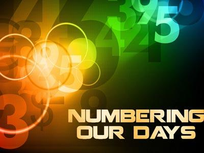 PowerPoint Template on Numbering  Our  Days