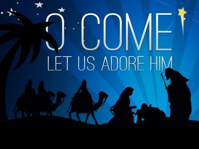 PowerPoint Template on O Come Let Us Adore Him