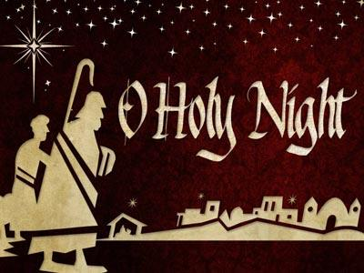 PowerPoint Template on O Holy Night With Lyrics