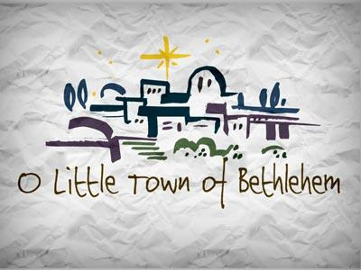 PowerPoint Template on O Little Town Of  Bethlehem With Lyrics