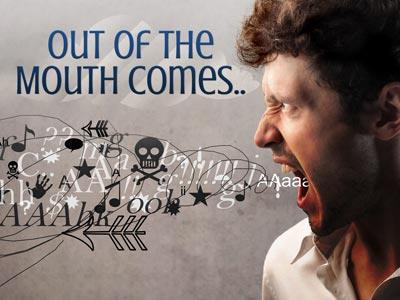 Out of the  Mouth PowerPoint Template