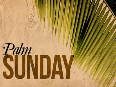 PowerPoint Template on Palm  Sunday 2
