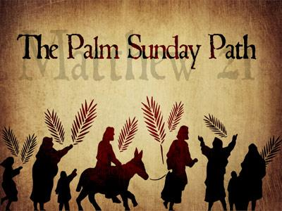 PowerPoint Template on Palm Sunday Path