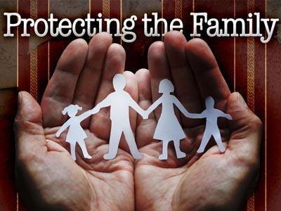 PowerPoint Template on Protecting The Family