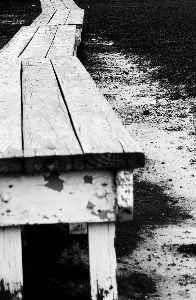 Benches - Black and White Image