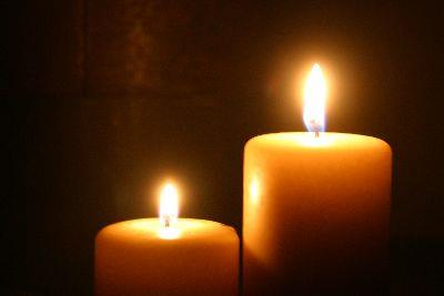 view the Image Two Candles