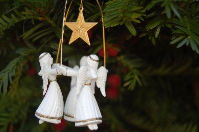 Image on Christmas Angel Ornament