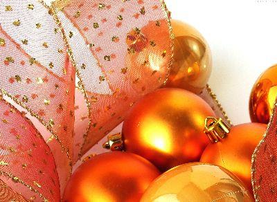 Image on Christmas Gold Ornaments