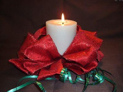 Image on Christmas Ribbon Candle