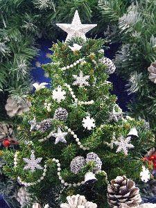 Image on Christmas Tree Silver