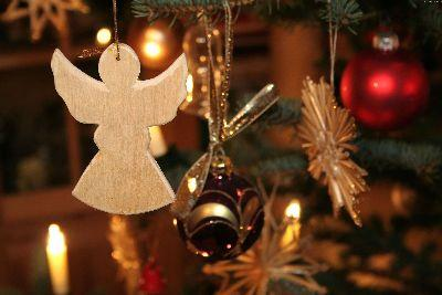Christmas Wood Angel Image