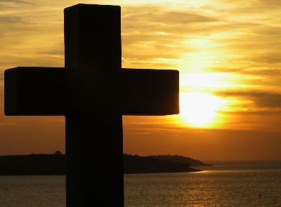 view the Image Cross Sunset