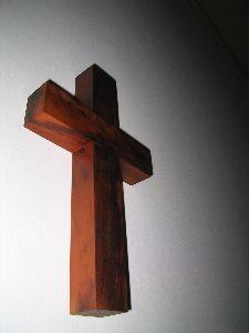 Image on Cross Wooden Wall