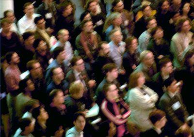 view the Image Crowd Waiting