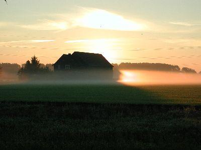 Image on Farmhouse Sunrise