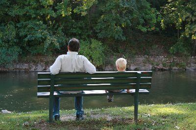 view the Image Father Child Bench
