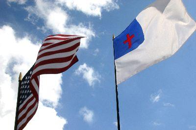 Image on Flags Us Christian
